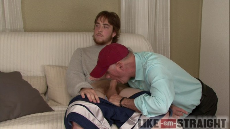 LikeEmStraight straight naked dude blowjob Calvin Brendon men sucking big thick dicks young cub gay for pay cocksucker serviced 005 gay porn sex gallery pics video photo - Like Em Straight red haired Calvin returns getting a deep throat blowjob from Brendon Marley