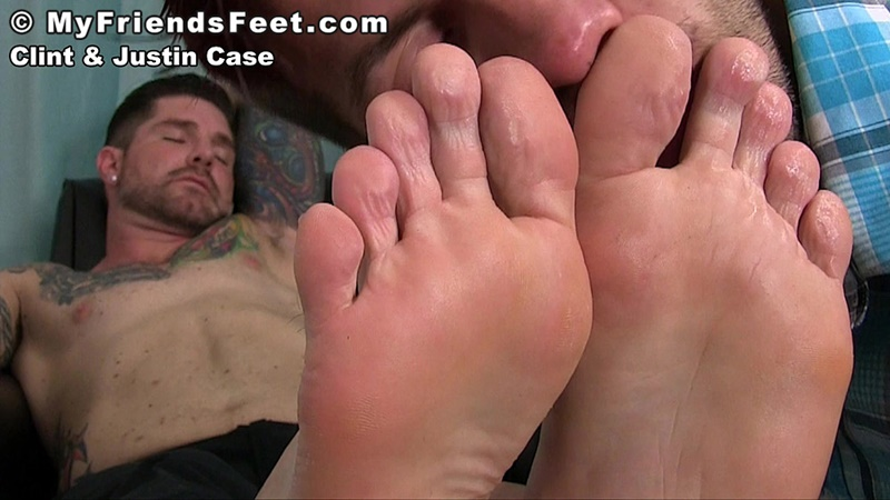My Friends Feet Justin Case On His Knees Massaging And -2417