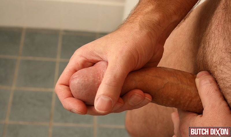 ButchDixon big hairy naked bear men Daddy Oliver large uncircumcized uncut dick foreskin jerk off solo huge cumshot orgasm jizz 016 gay porn sex gallery pics video photo - Daddy Oliver's foreskin stretches over the length of his thick uncut cock