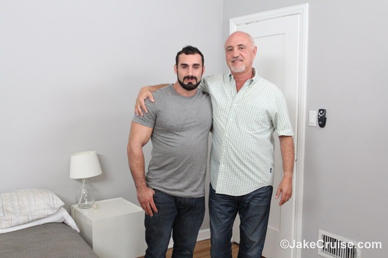 JakeCruise hairy chest naked big muscle dude Jaxton Wheeler big dick sucked Jake Cruise mature older guy younger blowjob 002 gay porn sex gallery pics video photo - Jaxton Wheeler's big dick serviced by Jake Cruise