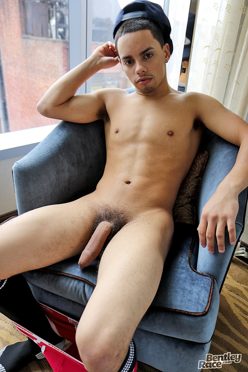 20 Year Old Michael Prado Strips Naked And Jerks His Huge -4063