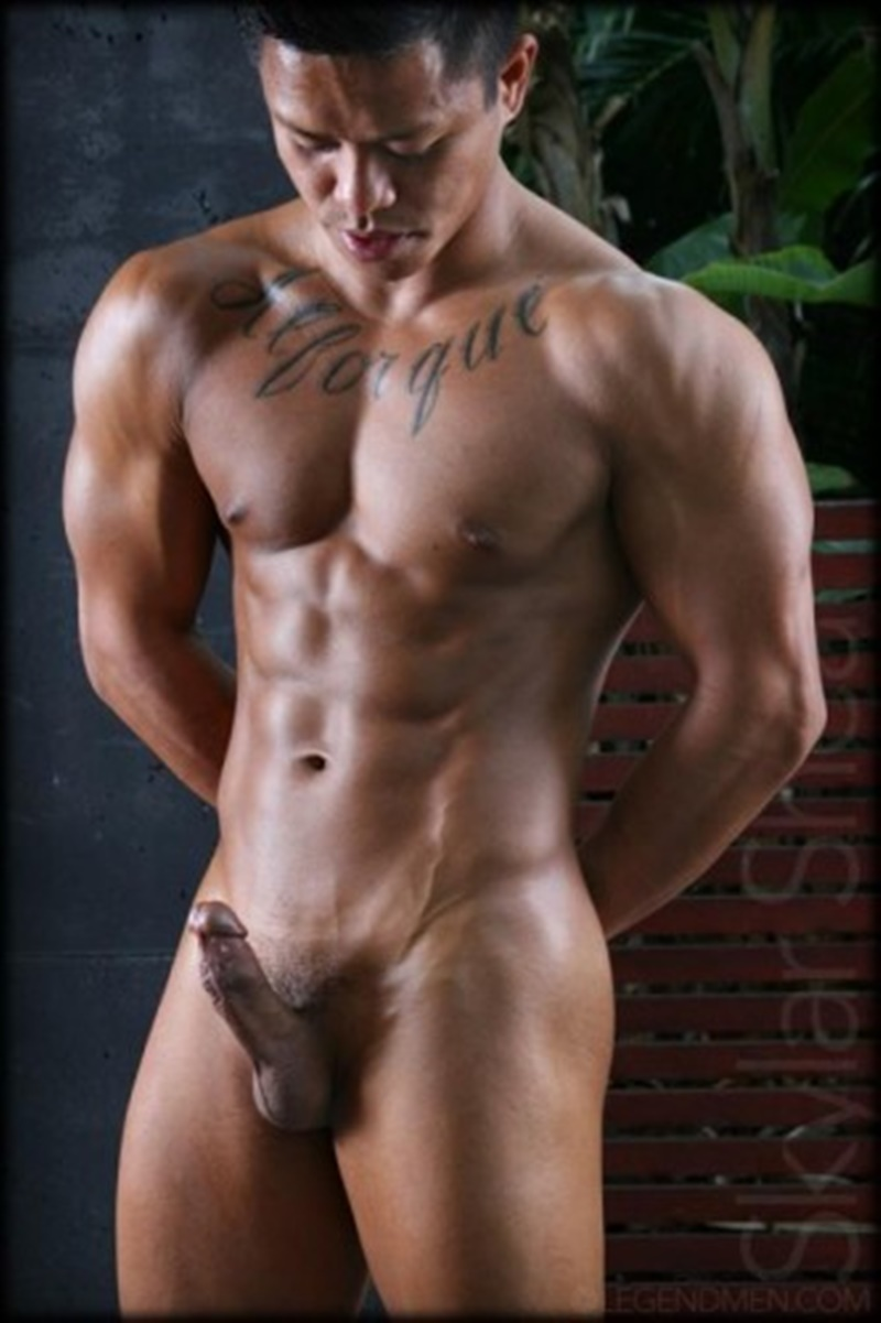 LegendMen sexy big black muscle nude bodybuilder Skylar Shea huge ebony dick ripped six pack abs tattoo smooth chest arms 002 gay porn sex gallery pics video photo - Gorgeous big muscle boy Skylar Shea packs out his assless jockstrap