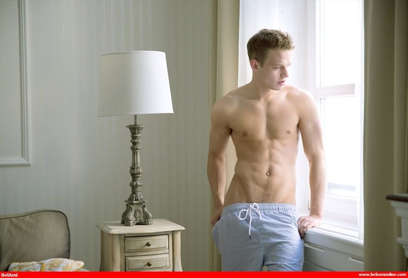 BelamiOnline Sexy young European twink Orri Aasen stripped bare smooth chest ripped abs big thick dick solo jerk off 001 gay porn sex gallery pics video photo - Sexy young European twink Orri Aasen stripped bare