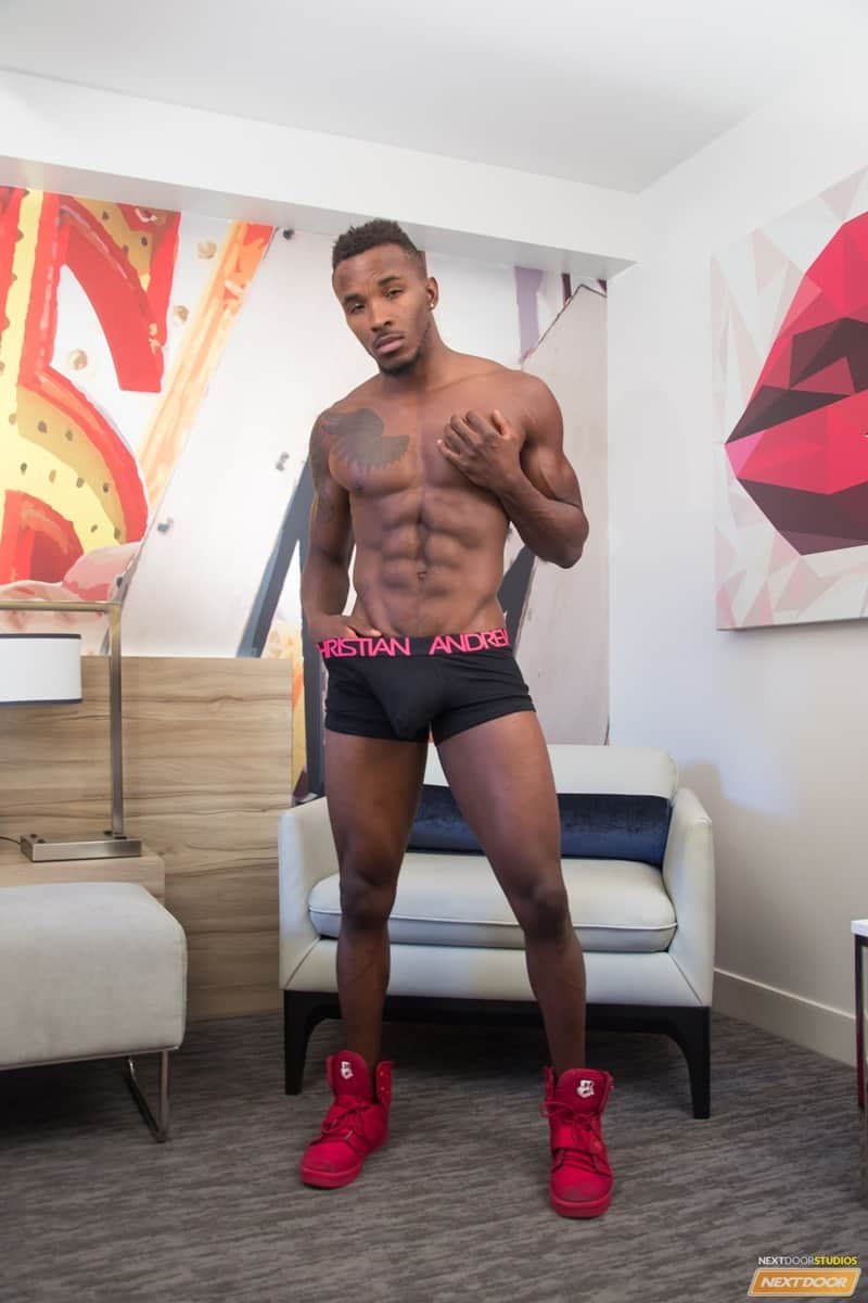 NextDoorEbony nude dude gay porn sex pics Ripped black stud Pheonix Fellington jerks big thick ebony dick dildo asshole 002 gay porn sex gallery pics video photo - Ripped black stud Pheonix Fellington jerks his big thick ebony dick as he dildos his own asshole