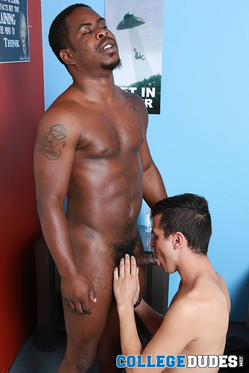 Jacob Daniels Sucks Down Hard On Justin Bolds Huge Thick Black Dick -9294