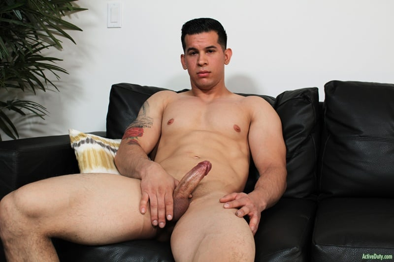 Hot Young Muscled Dude Rj Jerks His Huge Cock To A Massive Load Of