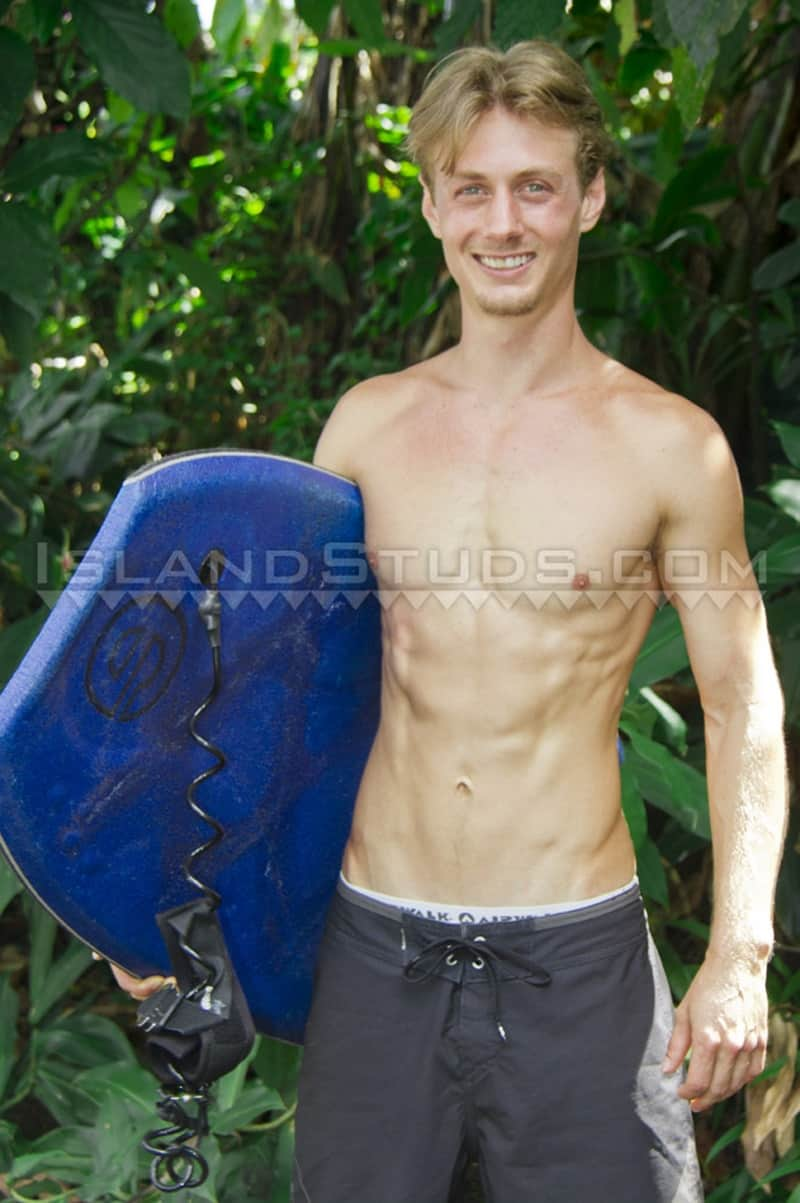 IslandStuds gay porn blond young college surfer jock sex pics Tracey jerking big dick 001 gallery video photo - Blond young college surfer jock Tracey is back jerking his big dick to a huge load of hot boy cum