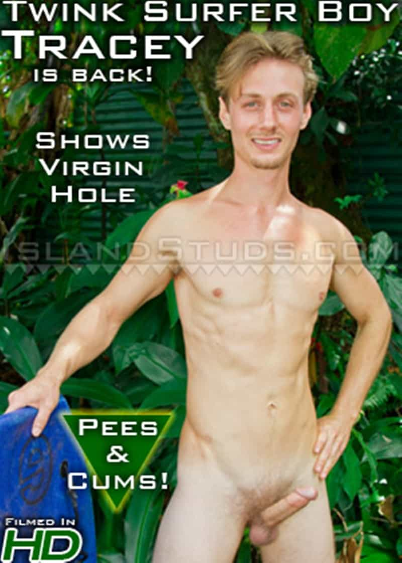 IslandStuds gay porn blond young college surfer jock sex pics Tracey jerking big dick 019 gallery video photo - Blond young college surfer jock Tracey is back jerking his big dick to a huge load of hot boy cum