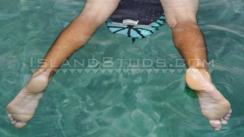 IslandStuds gay porn tattoo beard facial hair small dick sex pics Kimo bubble butt asshole 006 gallery video photo - Kimo spreads his sweet smooth virgin surfer butt WIDE OPEN while skinny dipping underwater in the pool