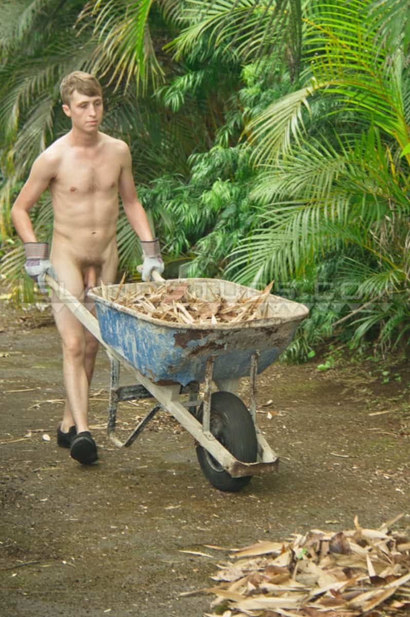 IslandStuds naked young straight stud Denny strips outdoors jerks huge 9 inch uncut cock foreskin solo 009 gallery video photo - Denny strips naked outdoors and jerks his huge 9 inch uncut cock