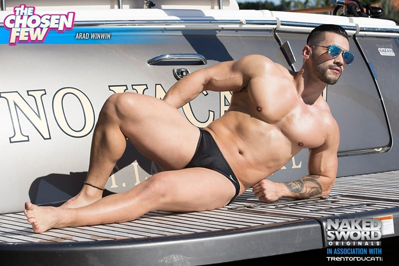 NakedSword huge cock sucking naked muscle dude Arad Winwin Alam Wernik ass hole rimming anal fucking 005 gallery video photo - Steamy mutual cock sucking session ends with Arad Winwin on top sticking his thick dick in Alam Wernik's pristine tight hole