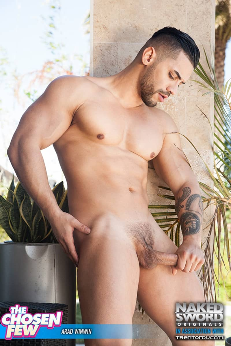 NakedSword huge cock sucking naked muscle dude Arad Winwin Alam Wernik ass hole rimming anal fucking 007 gallery video photo - Steamy mutual cock sucking session ends with Arad Winwin on top sticking his thick dick in Alam Wernik's pristine tight hole