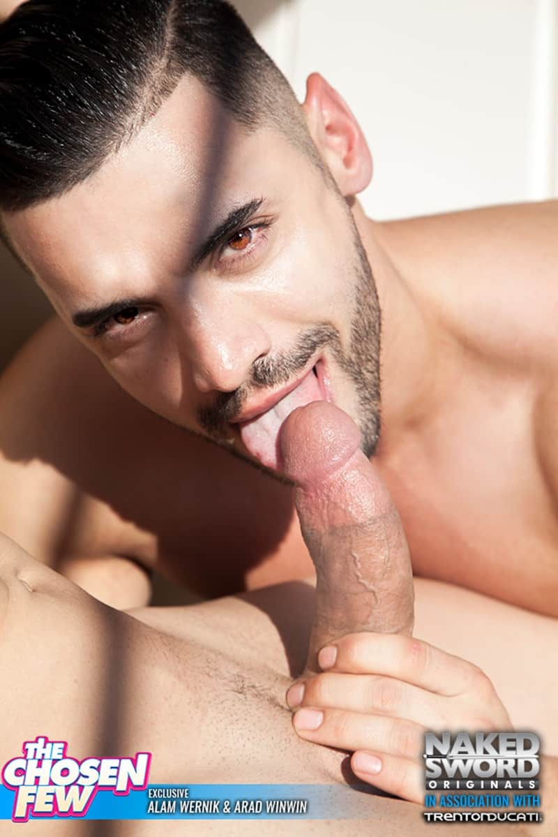 NakedSword huge cock sucking naked muscle dude Arad Winwin Alam Wernik ass hole rimming anal fucking 022 gallery video photo - Steamy mutual cock sucking session ends with Arad Winwin on top sticking his thick dick in Alam Wernik's pristine tight hole