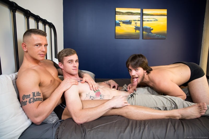 NextDoorBuddies Ryan Jordan Scotty Dickenson dick Gunner rock hard cock ass hole fucking 005 gallery video photo - Gunner, Ryan Jordan and Scotty Dickenson are stripped down to the bone and ready for intense action