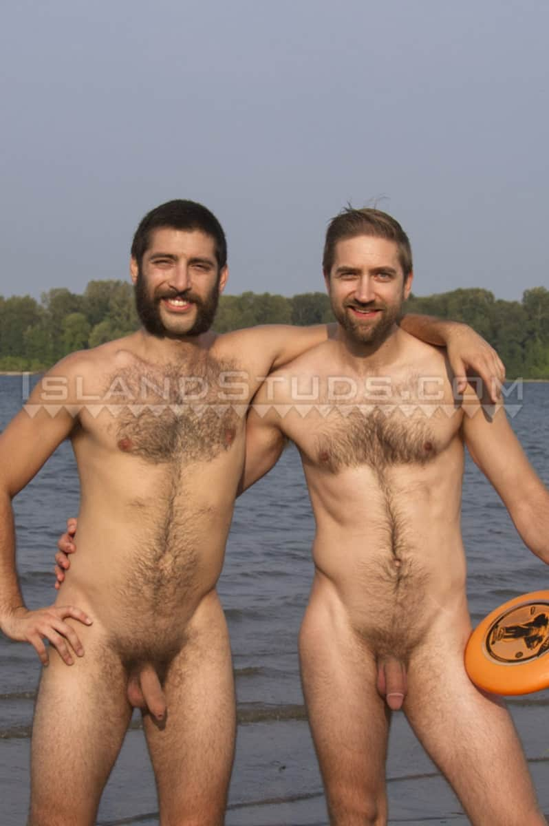 IslandStuds Beard hairy chest outdoor gay sex Oregon jocks uncut Andre furry cock Mark mutual jerk off 012 gallery video photo - Bearded totally hairy outdoor Oregon jocks uncut Andre and furry cock Mark in hot duo action