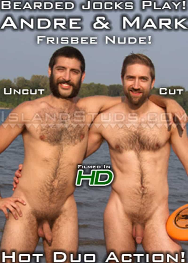 IslandStuds Beard hairy chest outdoor gay sex Oregon jocks uncut Andre furry cock Mark mutual jerk off 020 gallery video photo - Bearded totally hairy outdoor Oregon jocks uncut Andre and furry cock Mark in hot duo action
