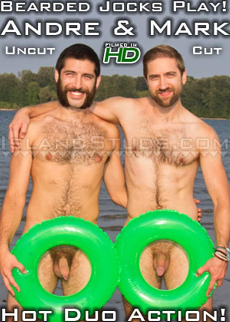 IslandStuds Beard hairy chest outdoor gay sex Oregon jocks uncut Andre furry cock Mark mutual jerk off 021 gallery video photo - Bearded totally hairy outdoor Oregon jocks uncut Andre and furry cock Mark in hot duo action