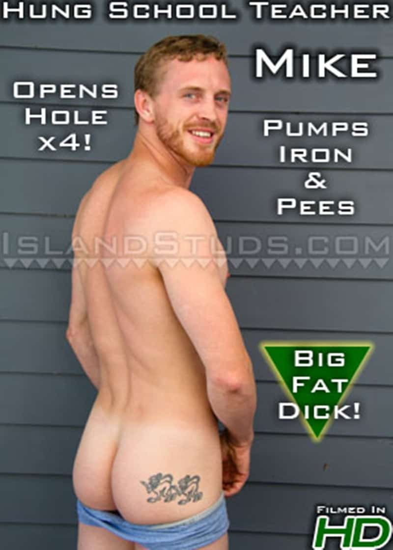 IslandStuds Bearded redhead ginger sexy handsome Mike smooth ripped body firm bubble butt huge eight 8 inch foreskin uncut cock 018 gay porn sex gallery pics - Bearded sexy handsome Mike has a smooth ripped body, firm bubble butt and huge 8 inch foreskined uncut cock