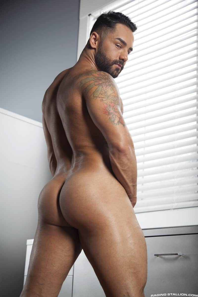 RagingStallion Bruno Bernal ass fucking big naked dicks Jay Landford butt hole rimming cocksucking 004 gallery video photo - Bruno Bernal moans loudly as Jay Landford's huge dick stretches his butt hole to the max
