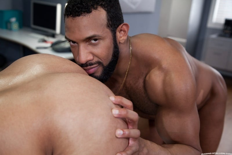 RagingStallion Bruno Bernal ass fucking big naked dicks Jay Landford butt hole rimming cocksucking 011 gallery video photo - Bruno Bernal moans loudly as Jay Landford's huge dick stretches his butt hole to the max