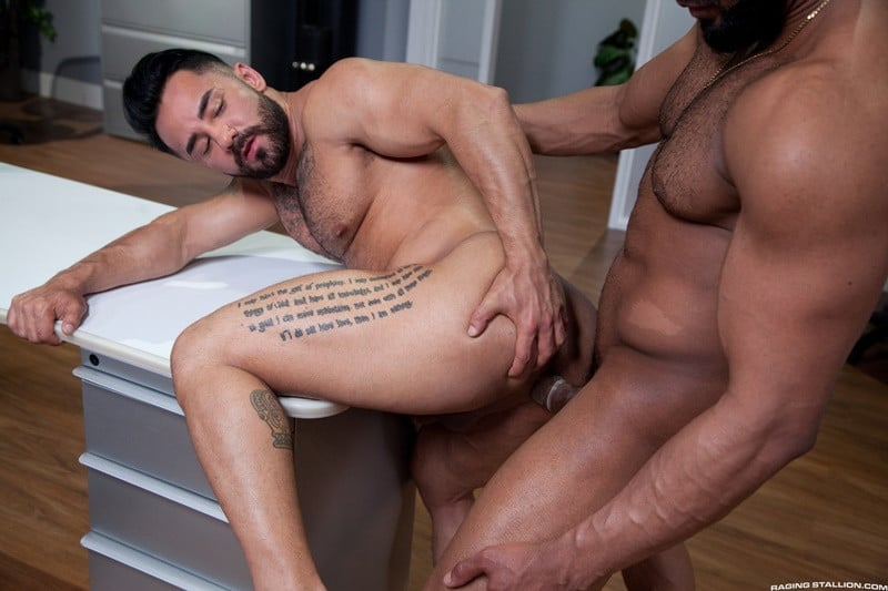 RagingStallion Bruno Bernal ass fucking big naked dicks Jay Landford butt hole rimming cocksucking 012 gallery video photo - Bruno Bernal moans loudly as Jay Landford's huge dick stretches his butt hole to the max