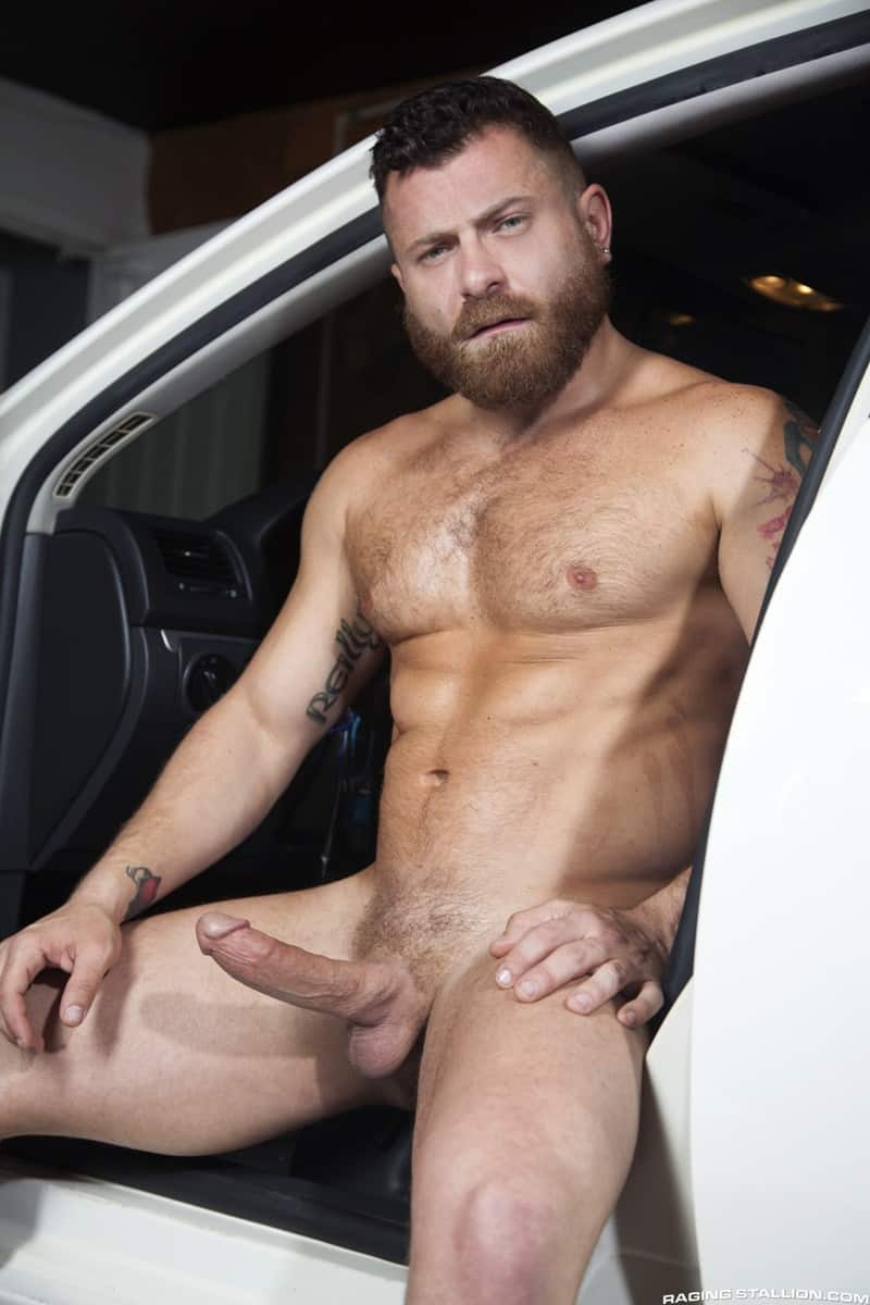 RagingStallion Riley Mitchell Max Konnor big black monster cock anal rimming bubble butt ass fucking 004 gallery video photo - Riley Mitchell get on his knees and sucks down hard on Max Konnor's monster cock