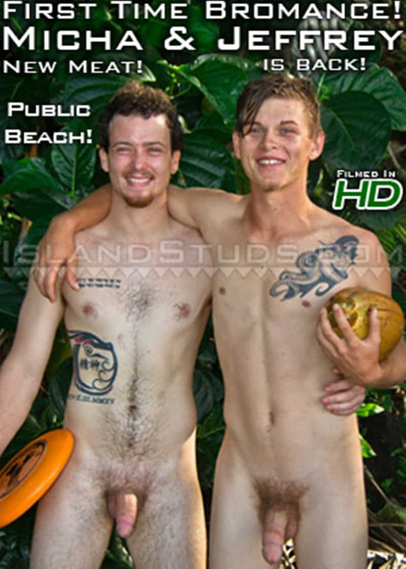 IslandStuds Two REAL STRAIGHT YOUNG HUNG LADS thick cocks ripped abs tossing FRISBEE naked Tropical Hawaiian Beach 017 gay porn pics gallery - Super cute twink surfer Jeffrey with his fat beer can cock jerks off with surfer boy bubble butt Micha