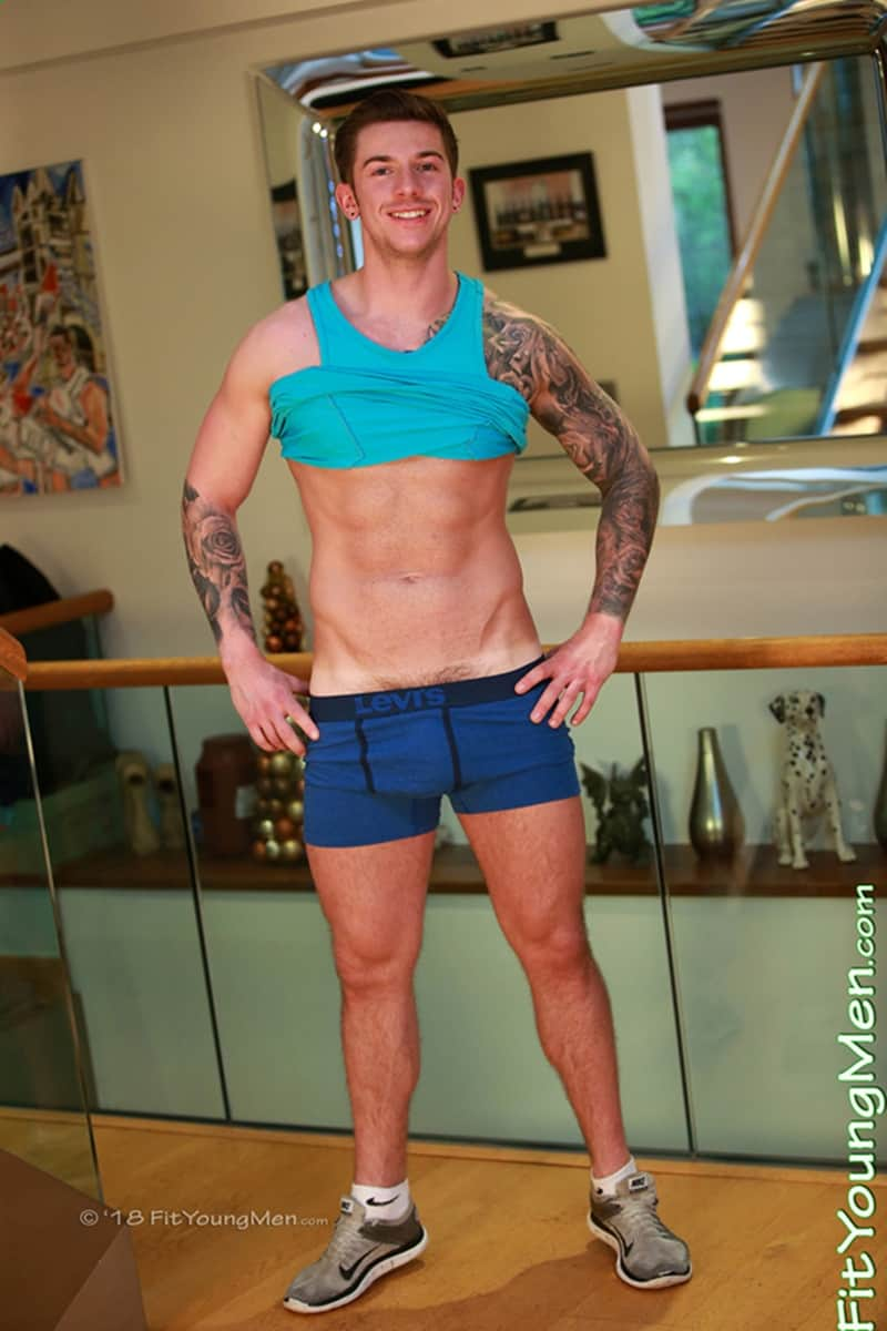 Men for Men Blog Finian-Morris-Ripped-tattooed-young-muscle-hunk-strips-Levis-underwear-jerks-huge-uncut-dick-FitYoungMen-001-gay-porn-pics-gallery Ripped tattooed young muscle hunk Finian Morris strips down to his Levis underwear and jerks his huge uncut dick Fit Young Men
