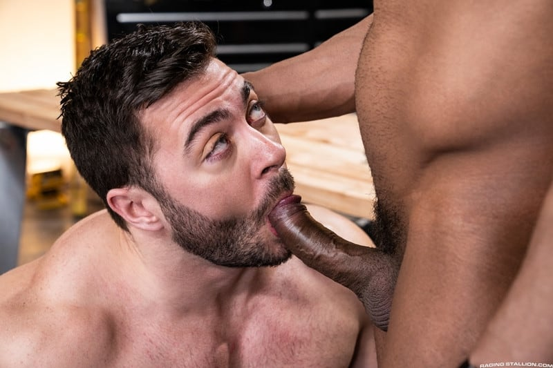 Men for Men Blog Gay-Porn-Pics-002-Derek-Bolt-Jay-Landford-naked-muscle-men-huge-cock-fucking-hot-asshole-RagingStallion Derek Bolt moans with each thrust from Jay Landford's huge cock pummeling his hot asshole Raging Stallion