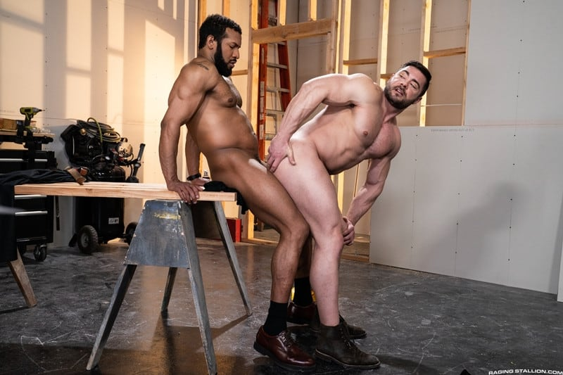 Men for Men Blog Gay-Porn-Pics-012-Derek-Bolt-Jay-Landford-naked-muscle-men-huge-cock-fucking-hot-asshole-RagingStallion Derek Bolt moans with each thrust from Jay Landford's huge cock pummeling his hot asshole Raging Stallion