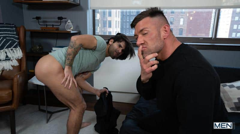 House invader Bruce Beckham surprises Ty Mitchell huge dick bare ass fucking 15 gay porn pics - House invader Bruce Beckham's surprises Ty Mitchell with his huge dick bare ass fucking