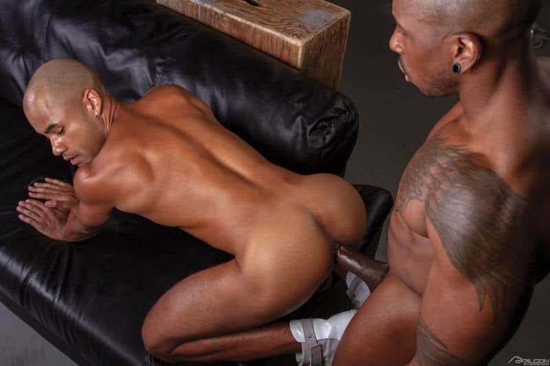 Hot black muscle stud Max Konnor huge ebony cock bareback fucking Xavier Zane hot bubble ass 1 gay porn pics - Hot black muscle stud Max Konnor's huge ebony cock bareback fucking Xavier Zane's hot bubble ass