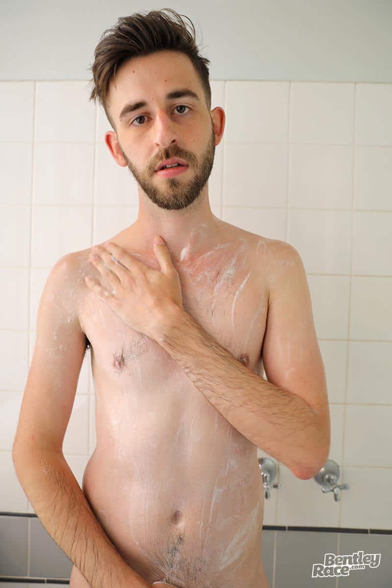 Hottie young Aussie boy Eddie Archer strips naked jerks off shower spraying jizz 5 gay porn pics - Hottie young Aussie boy Eddie Archer's strips naked and jerks off in the shower spraying jizz all over