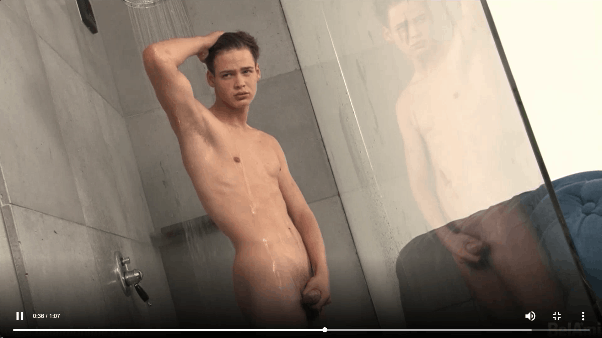 Sexy dark haired young twink Pascal Mauri steps out of the shower stroking big thick uncut dick 19 gay porn pics - Sexy dark haired young twink Pascal Mauri steps out of the shower stroking his big thick uncut dick
