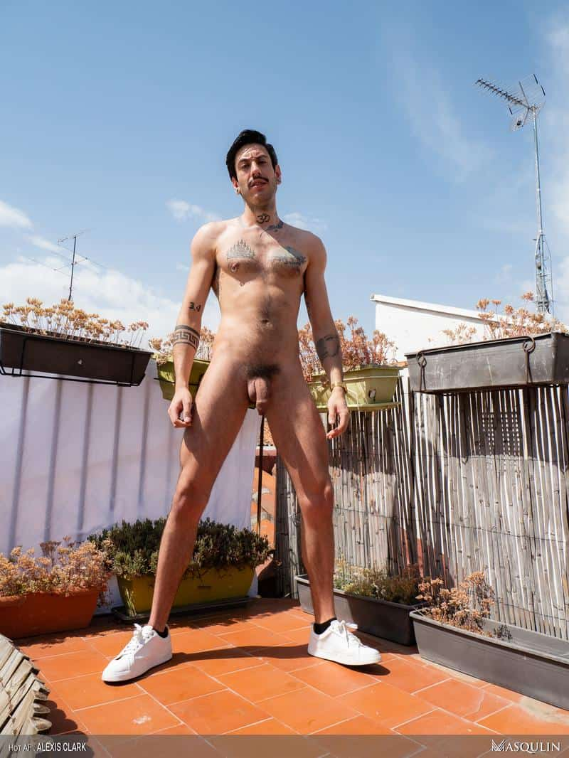 Sexy young hairy dude Alexis Clark hot asshole raw fucked a huge uncut cock up on the roof 13 gay porn pics - Sexy young hairy dude Alexis Clark hot asshole raw fucked by a huge uncut cock up on the roof